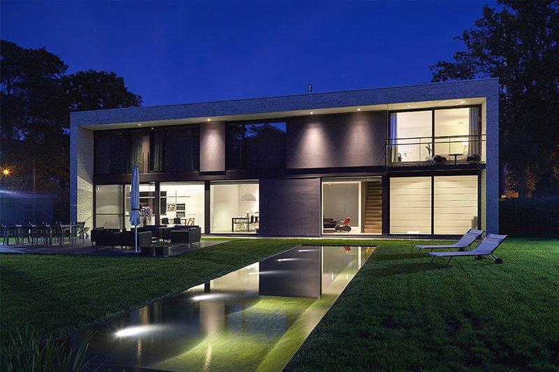 Nieuwbouwwoning, Schellen Architecten, Exterieur, Tuin, Tuinverlichting