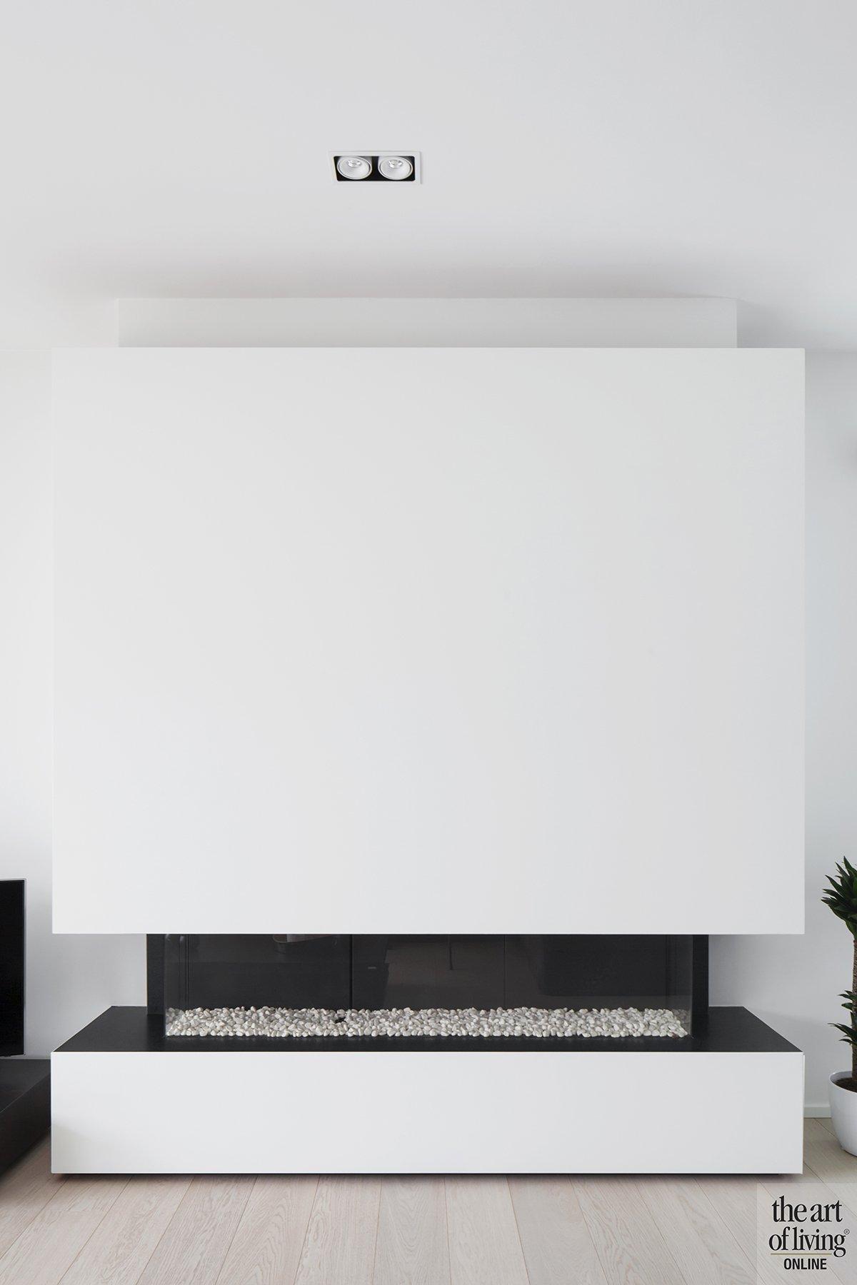 Architectenburo Berkein, woonkamer, open haard, strak, modern, hedendaags, exclusief, The Art of Living Online