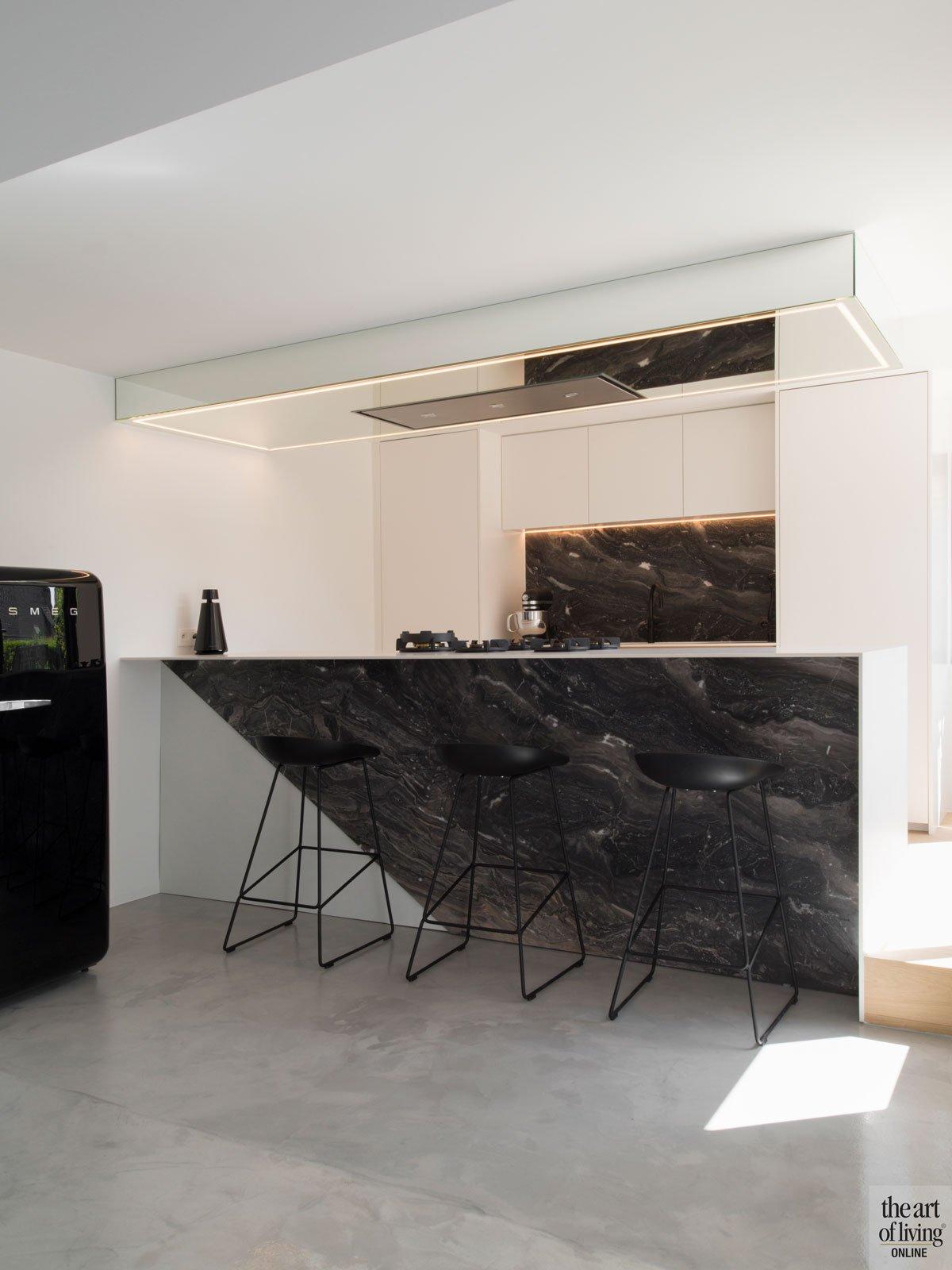 Keuken, Marmer, bovenverdieping, bank, televisie, The Art of Living Online