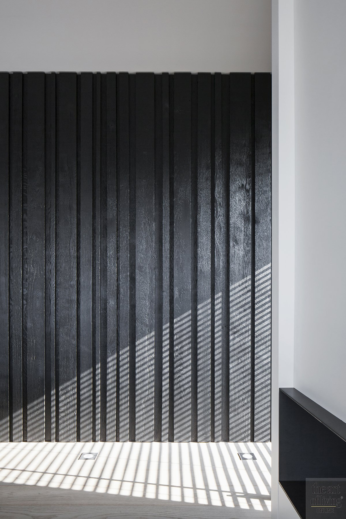 Minimalistische slaapkamer detail, Interieurarchitect Philip Simoen