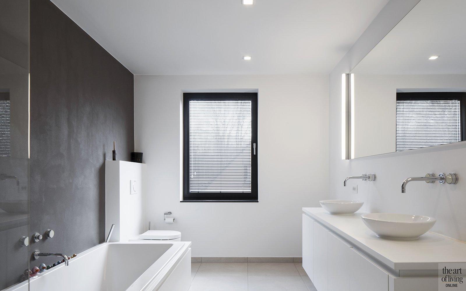 Architectenburo Berkein, badkamer, open haard, strak, modern, hedendaags, exclusief, The Art of Living Online