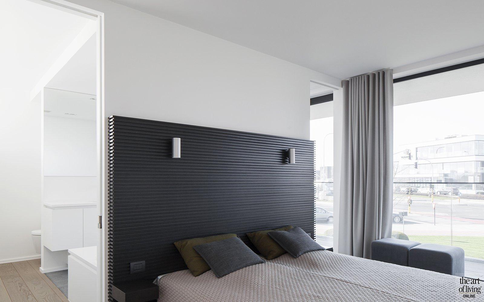 Architectenbudo Berkein, bed, slaapkamer, strak, modern, hedendaags, exclusief, The Art of Living Online