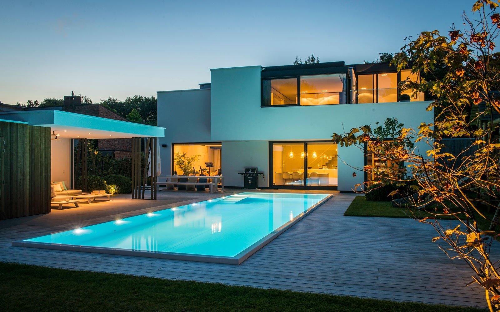 Zwembad tuin t groene plan the art of living be