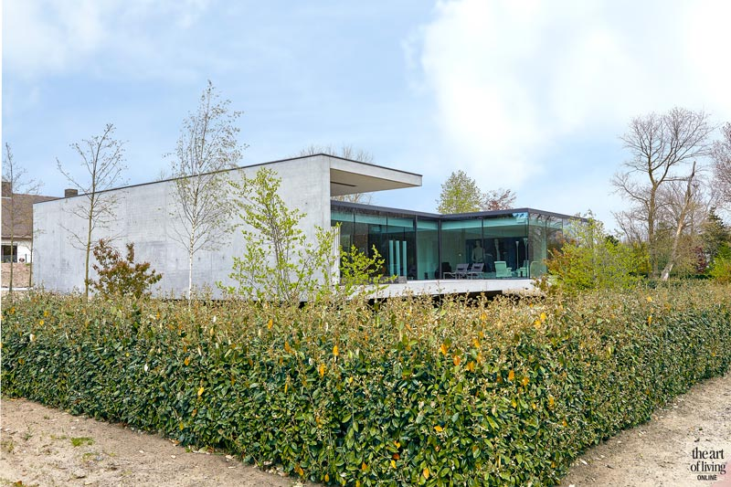 Zwevende villa, Govaert & vanhoutte, the art of living, moderne villa, special design, modern design, zwevend huis, zwevende villa, exclusief design