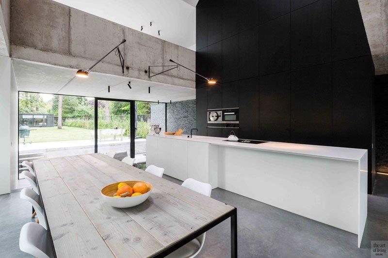 Halfopen woning, Icoon.be, the art of living, keuken, keukens, kitchen, woonkeuken, design keuken, luxueuze keuken, design kitchen, design keuken
