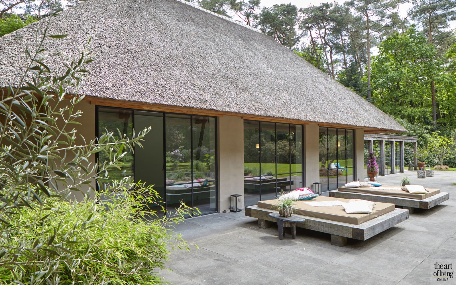 Jaren 70 villa, Eric kant, the art of living, wellness at home, wellness, zwembad, lifestyle, fitness, luxueus, exclusief, villa, pool house