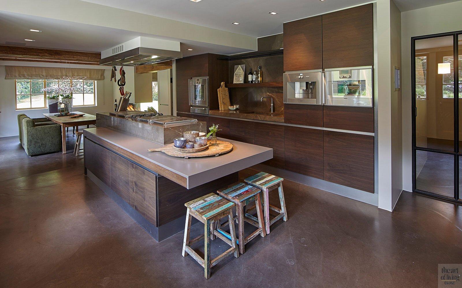 jaren 70 villa, Eric Kant, the art of living, keuken, keukens, kitchen, woonkeuken, design keukens, exclusieve keukens, exclusief, luxueus