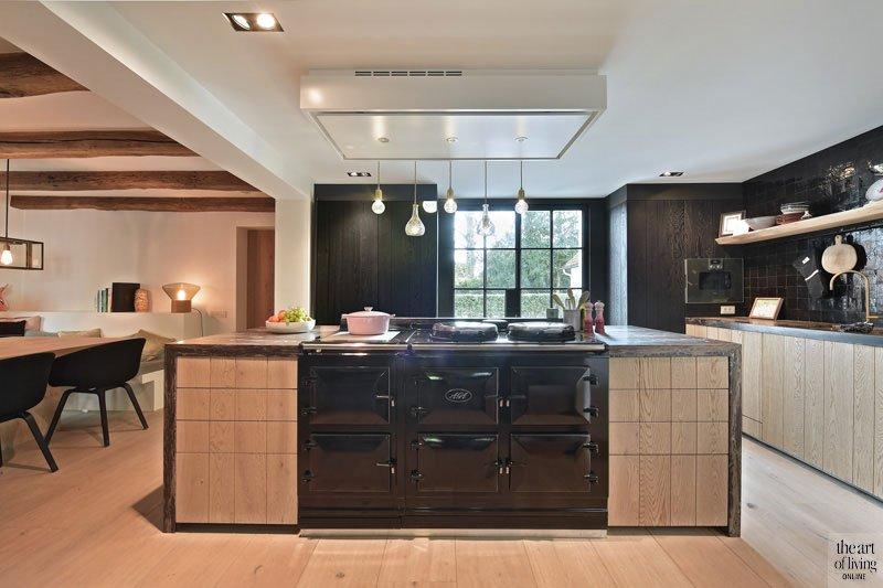 Landelijk strak, Jurgen Weyne, the art of living, keuken, keukens, kitchen, woonkeuken, luxueuze keukens, exclusieve keuken