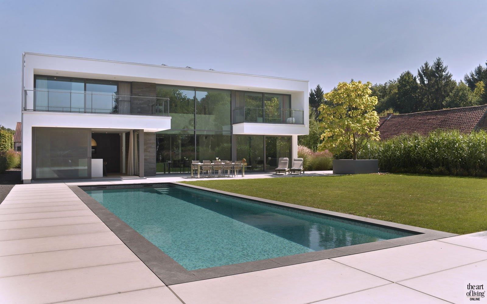 Moderne villa, Schellen Architecten, the art of living, zwembaden, zwembad, buitenzwembad, pool, swimming pool, exclusief zwembad