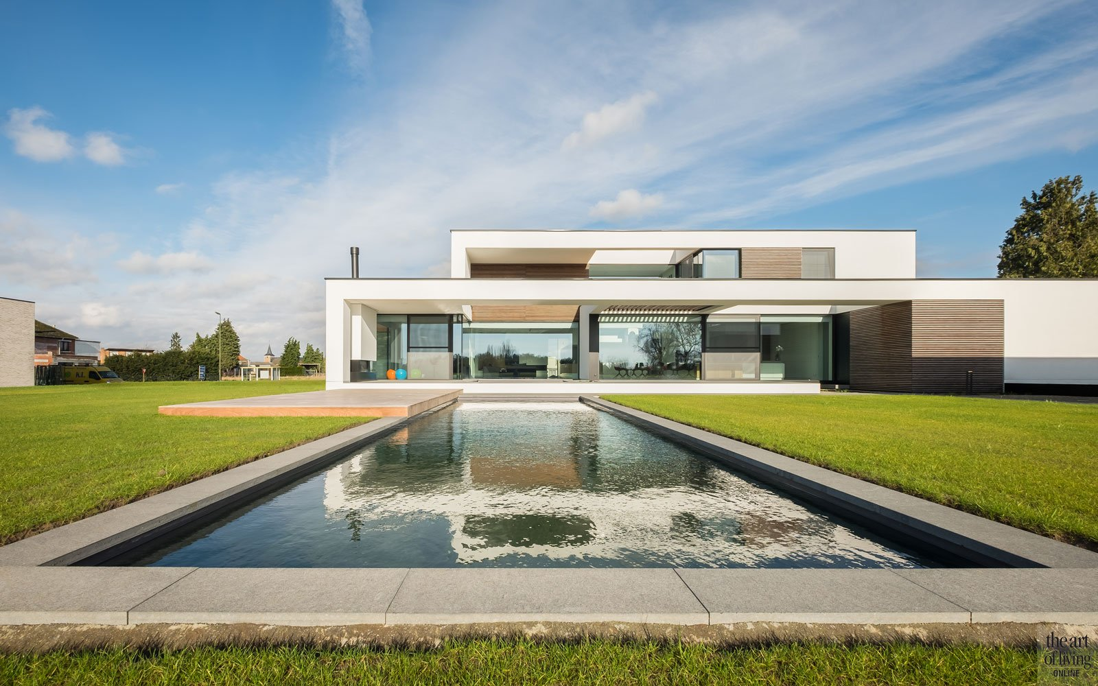 Transparante villa, Block office architecten, the art of living, zwembad, buitenzwembad, zwembaden, swimming pool, pool, exclusief