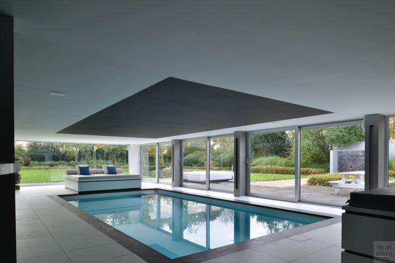 Verbouwing moderne villa, VVR Architecten, the art of living, pool, zwembad, wellness, wellness at home, design, exclusief, luxueus zwembad