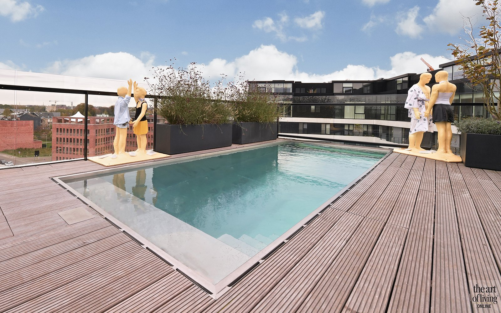 Dakterras met zwembad, residenties zuidzicht, the art of living