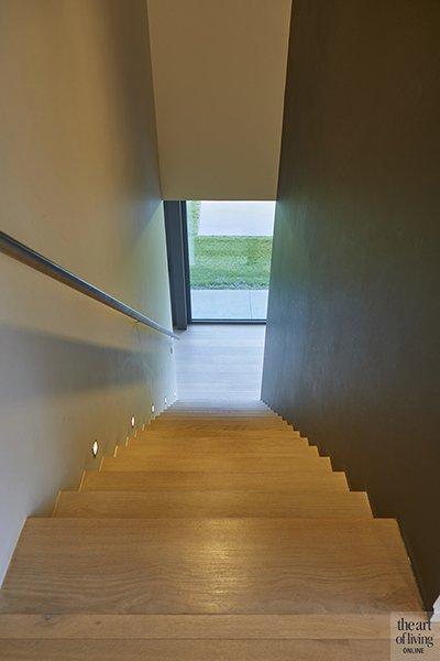 Nieuwbouwwoning, Schellen Architecten, Woonkamer, Trap, Lounge, Houten vloer