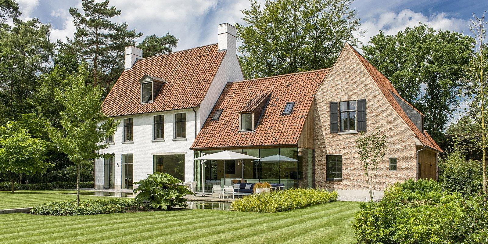 Strakke tuin, Pieter Vlassak, Vlassak Architects, Less is more, Zwevend terras, Lounge, Vijver