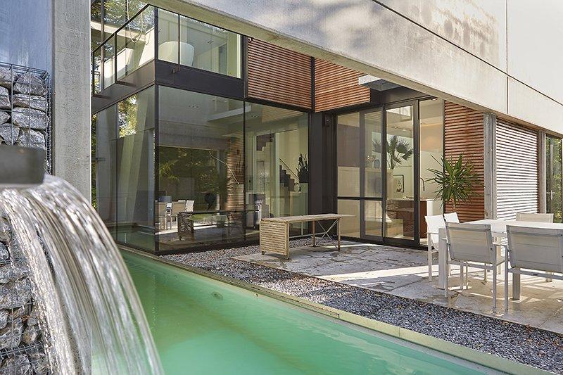 Vrijstaand bad, Walter Wuyts, Zwembad, Buiten zwembad, Hedendaags, Nieuwbouwwoning, Strak, Modern, Speels