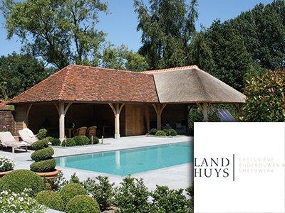 't Landhuys, houten bijgebouw, bijgebouw, poolhouse