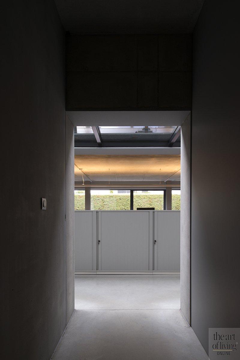 Betonlook, Ellen Vertommen, Interieur, Beton, Kantoor, Home office, Gang, Hal