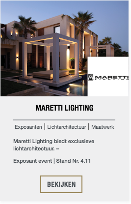 Maretti Lighting event exposant | The Art of Living Event