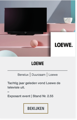Loewe event exposant | The Art of Living Event