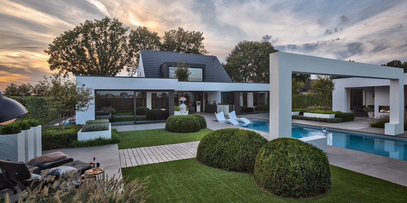 Wellness tuin, Knops Tuindesign, tuin aanleggen, tuin villa, villa tuin, exclusieve tuin