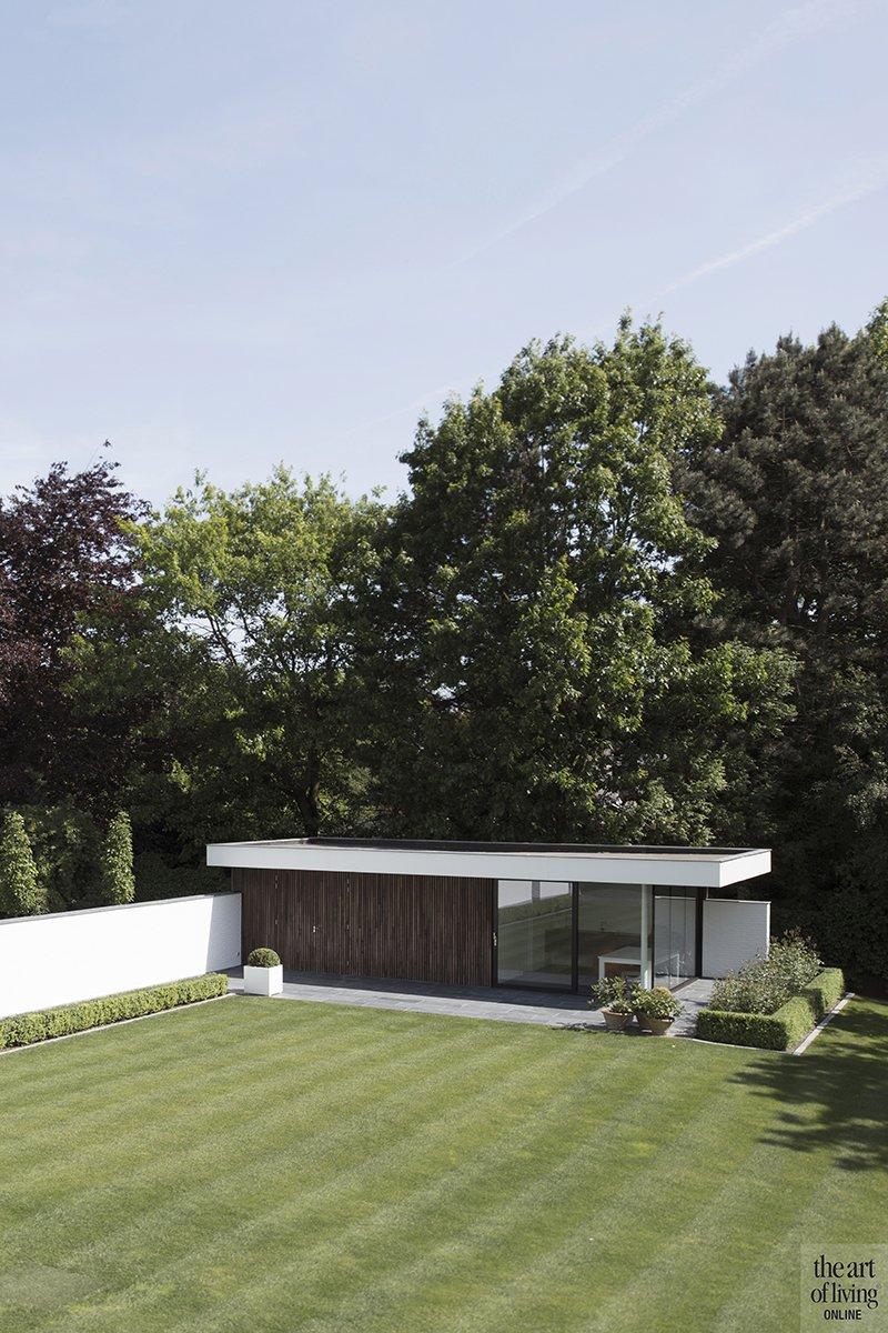 Hedendaagse villa, Steven De Jaeghere, Moderne villa, Exterieur, Tuinontwerp, Poolhouse, Tuin, design