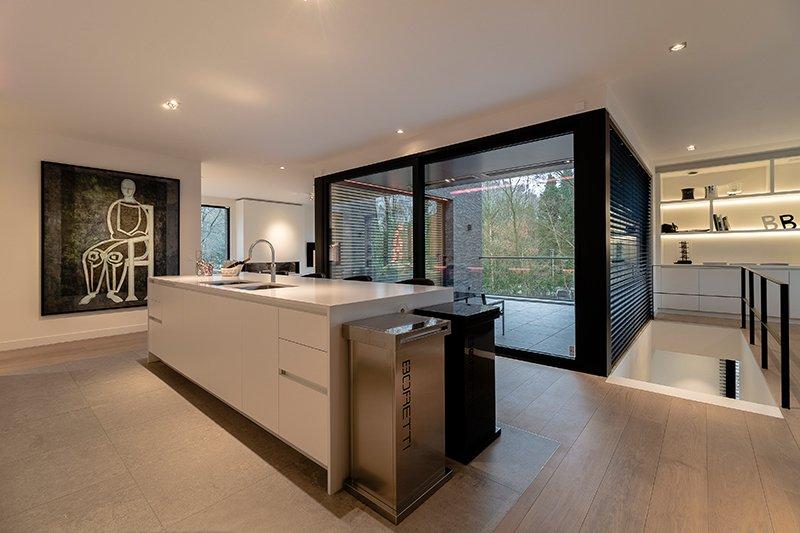 Sfeervol wonen in de natuur, KOON Architectuur, Toon Mennes, keuken, open leefkeuken