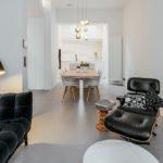 Huisafwerking met luxe materialen, Neolith, woonkamer, modern, vintage, natuurlijke materialen