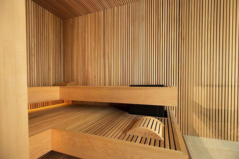 Indoor sauna, Alpha Industries, Wellness