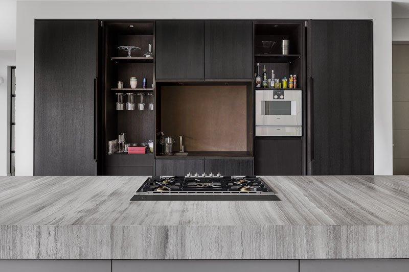 grijze keuken, Culimaat, Exclusief, High-end kitchen, strak, modern
