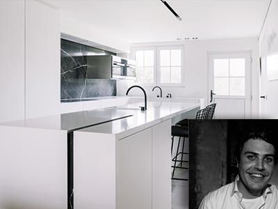 Pieter Schoolaert, interieurarchitect, tijdloze interierus, strakke vormen, witte materialen