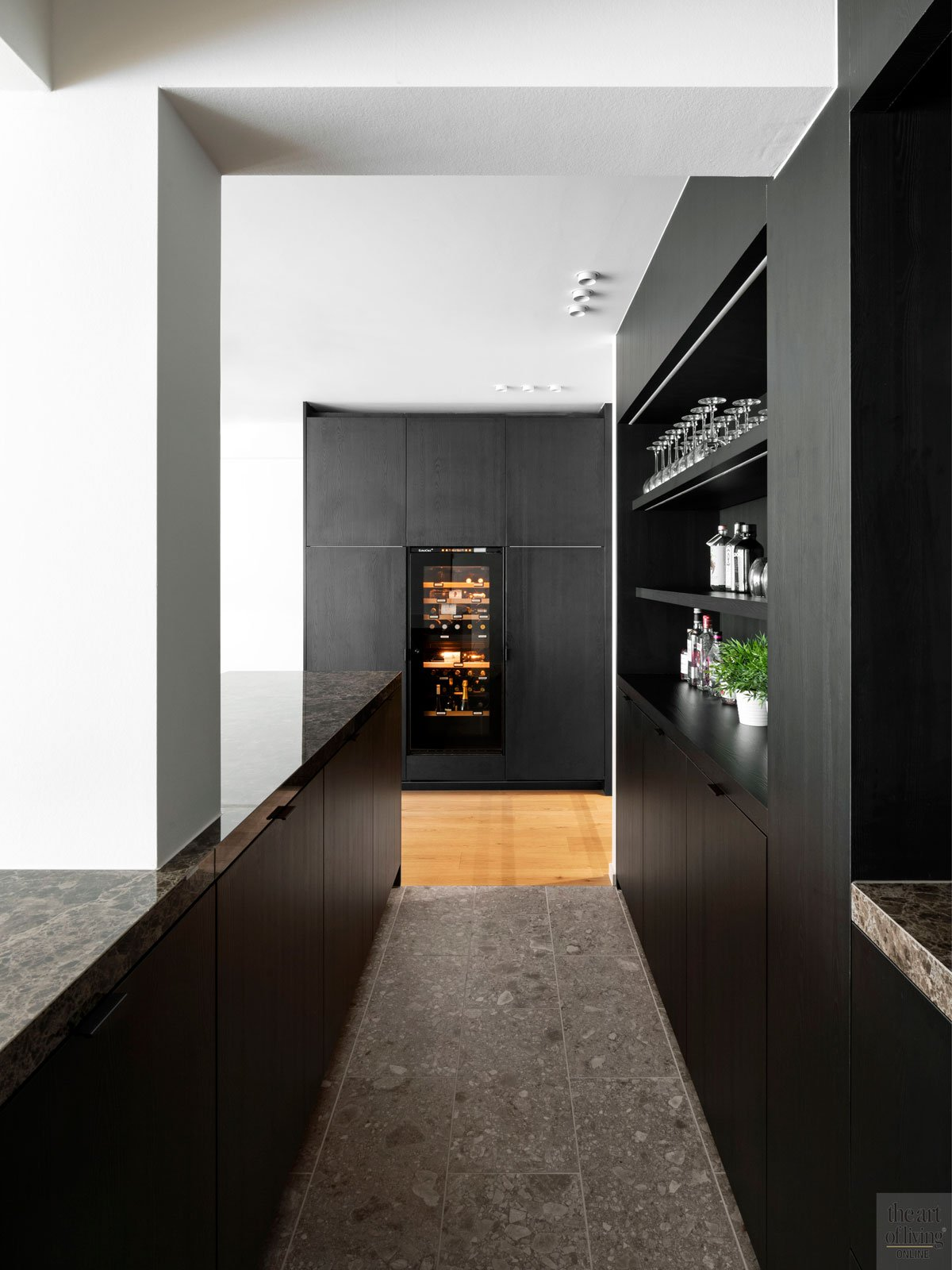 Zwarte keuken, Ghyselen Dewitte, the art of living