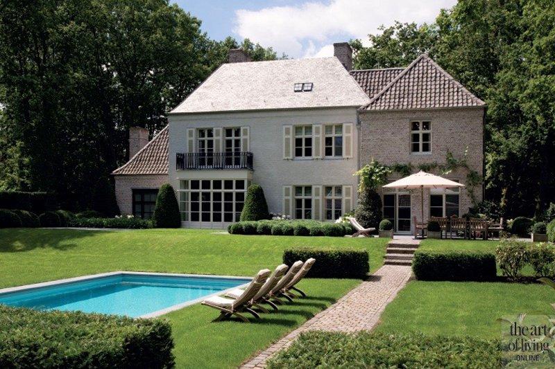 landhuis, thierry lejune, modern, stalen deur, riante tuin