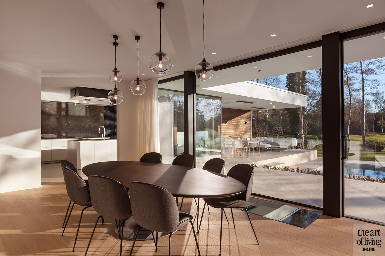 moderne villa, schellen architecten, strak interieur