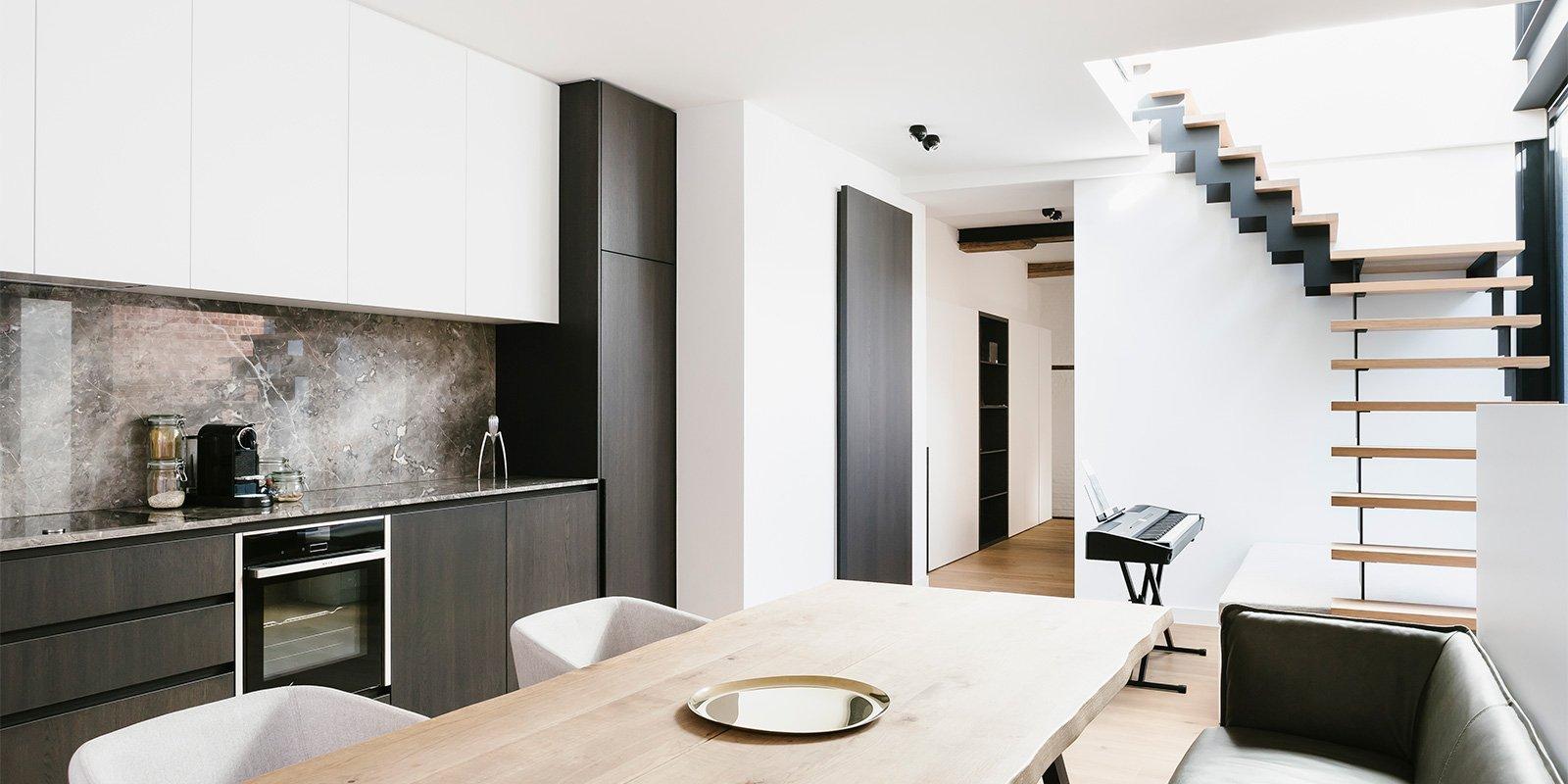 minimalistisch appartement, AnA Interior, ruwe materialen, open interieur, appartement