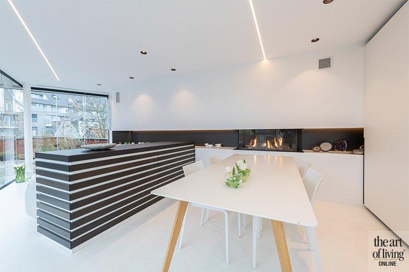 minimalistisch loft, iXtra, minimalisme, wit, ruimtelijk