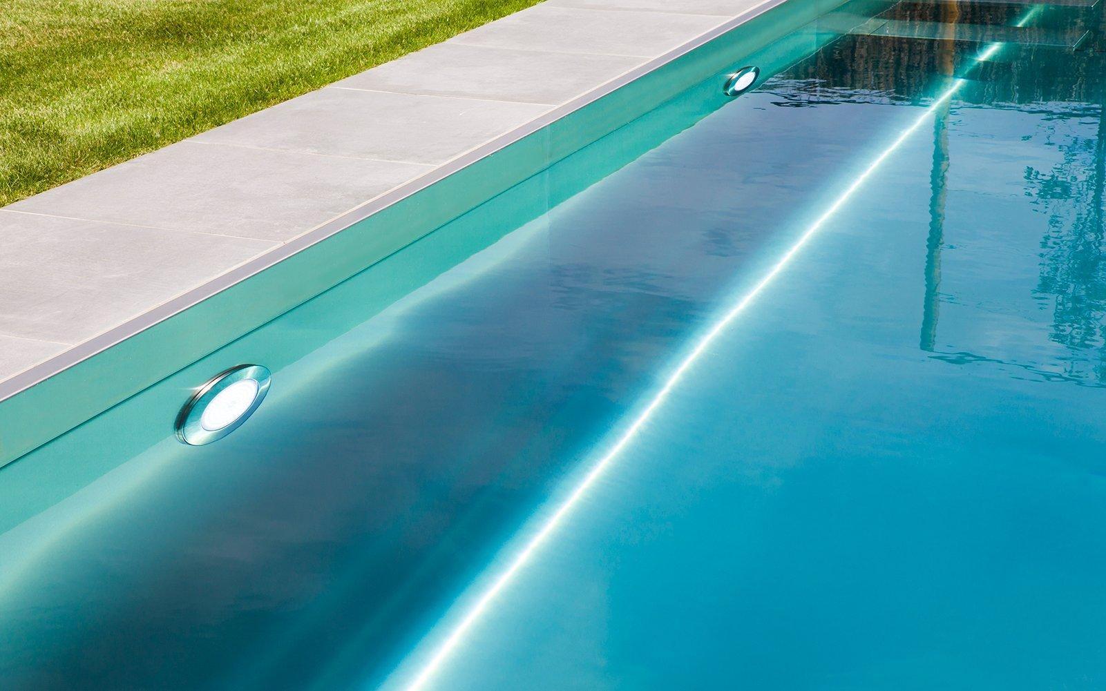 minimalistische integratie, zwembad, Nouv'eau zwembaden, onderhoudsvriendelijk