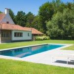Stijlvol zwembad, landelijke tuin, Nouv'eau Zwembaden
