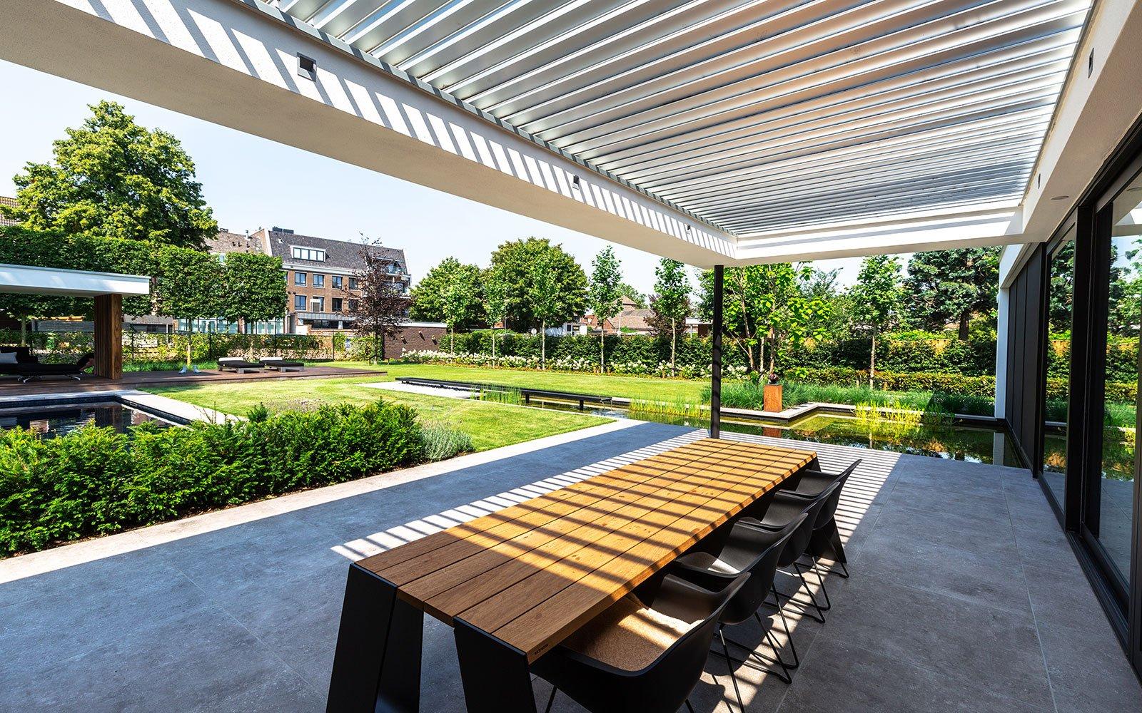overdekt terras, Stoop-Tuinen, the art of living