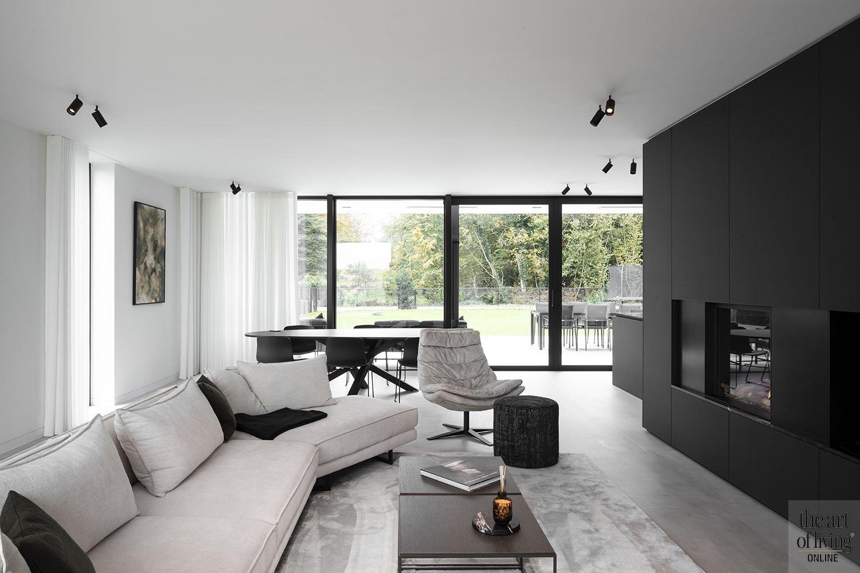 Zwart-wit interieur, zwart-wit interieur, SASS Architecten