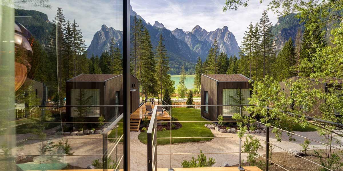 Finstral, skaview chalets, spectaculair uitzicht