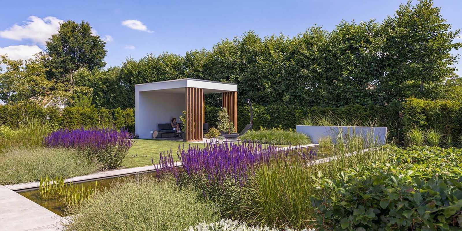 Moderne tuin, stoop tuinen, the art of living, tuin