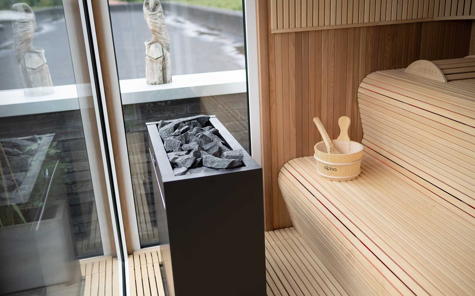 sauna, dakterras, alpha industries, the art of living