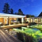 glaswanden poolhouse, the art of living, solarlux