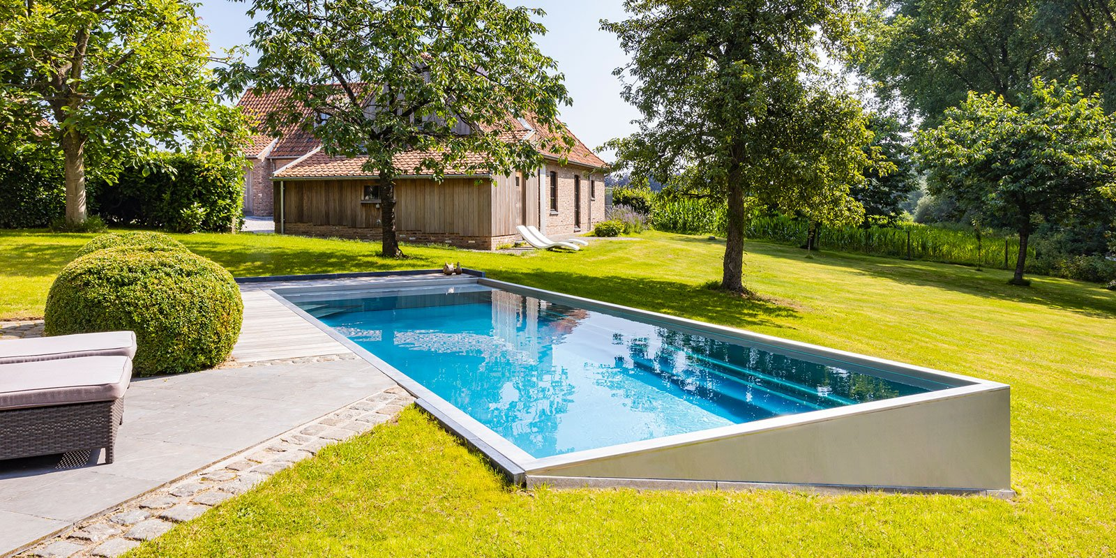 zwembad in achtertuin, Nouveau, tuin, water, The Art of Living